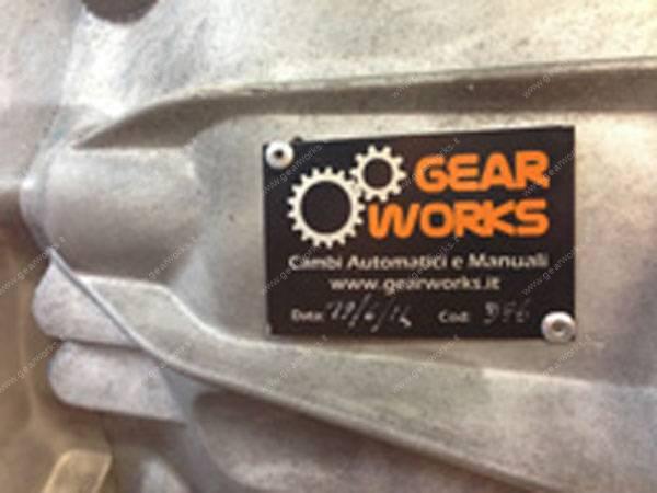 Gearworks - Targhetta identificativa con i dati relativi alla lavorazione eseguita sul cambio manuale